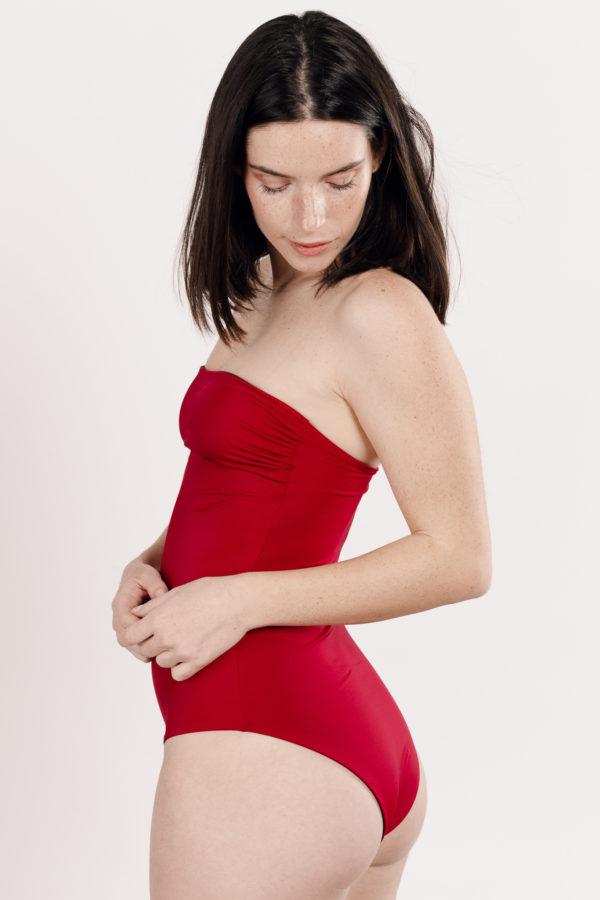 Maillot de bain une pièce rouge réversible